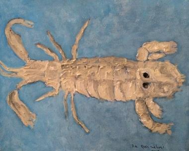 squilla-mantis-2015-olio-su-tela