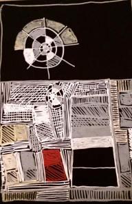 Senza titolo, 2016. Pennarello su cartoncino nero. — presso Ferrara.